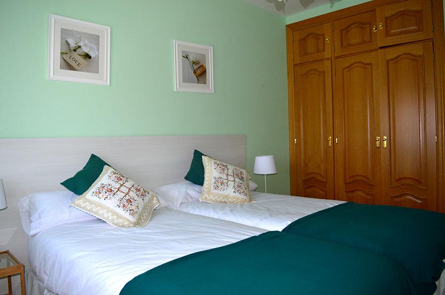 Casa-Rural-El-Balcon-de-Siete-Picos-habitación-verde-4
